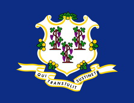 The state flag of Connecticut
