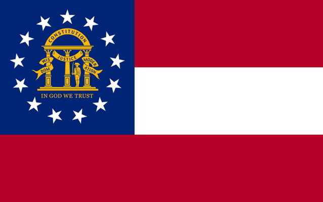 The state flag of Georgia