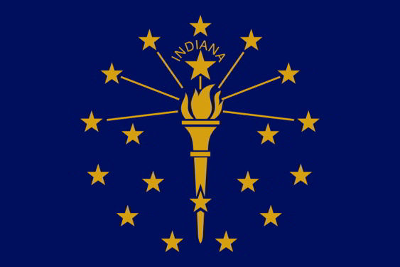 The state flag of Indiana