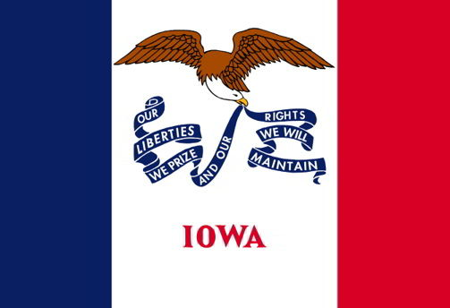 The state flag of Iowa