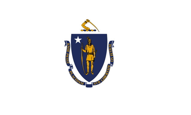 The state flag of Massachusetts