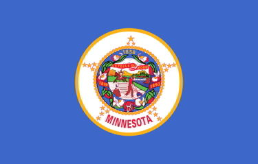 The state flag of Minnesota