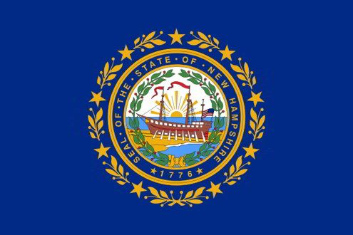 The state flag of New Hampshire