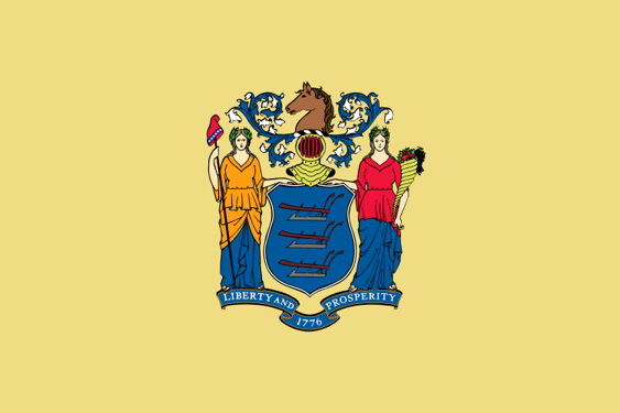 The state flag of New Jersey