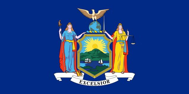 The state flag of New York