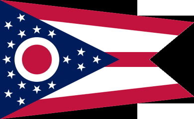 The state flag of Ohio