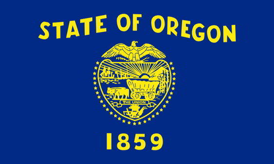 The state flag of Oregon