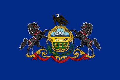 The state flag of Pennsylvania