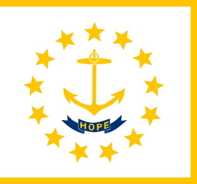 The state flag of Rhode Island