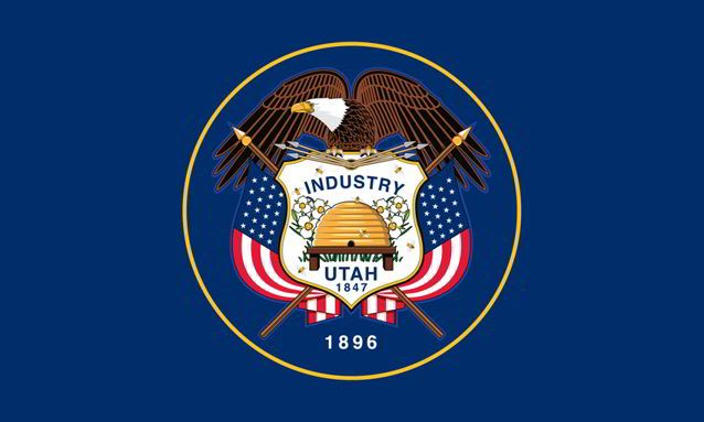 The state flag of Utah