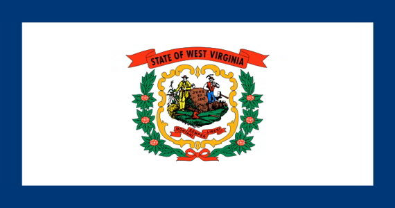 The state flag of West Virginia