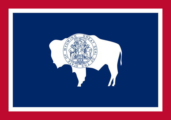 The state flag of Wyoming